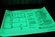 Покрытие планов эвакуации фотолюминесцентной пленкой
